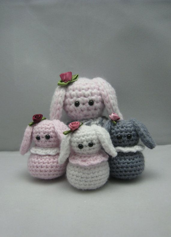 Small Amigurumi Bunny Pattern : DONT ADD this listing to your BASKET.Little Bunnys (free ...