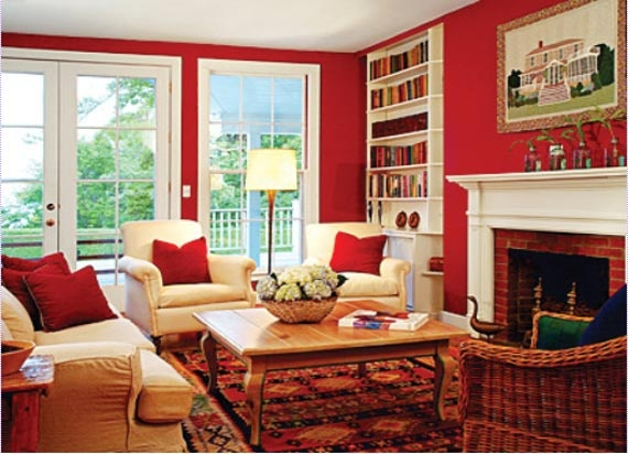 Red Living Room Paint For The Home Pinterest