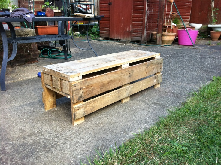 Garden bench made out of a pallet do it yourself pinterest - Garden bench out of pallets ...