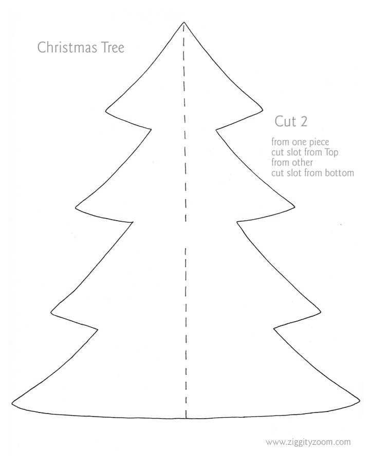 template for christmas tree