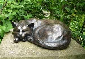 Cat Statue Cat Memorial Gardening Pinterest