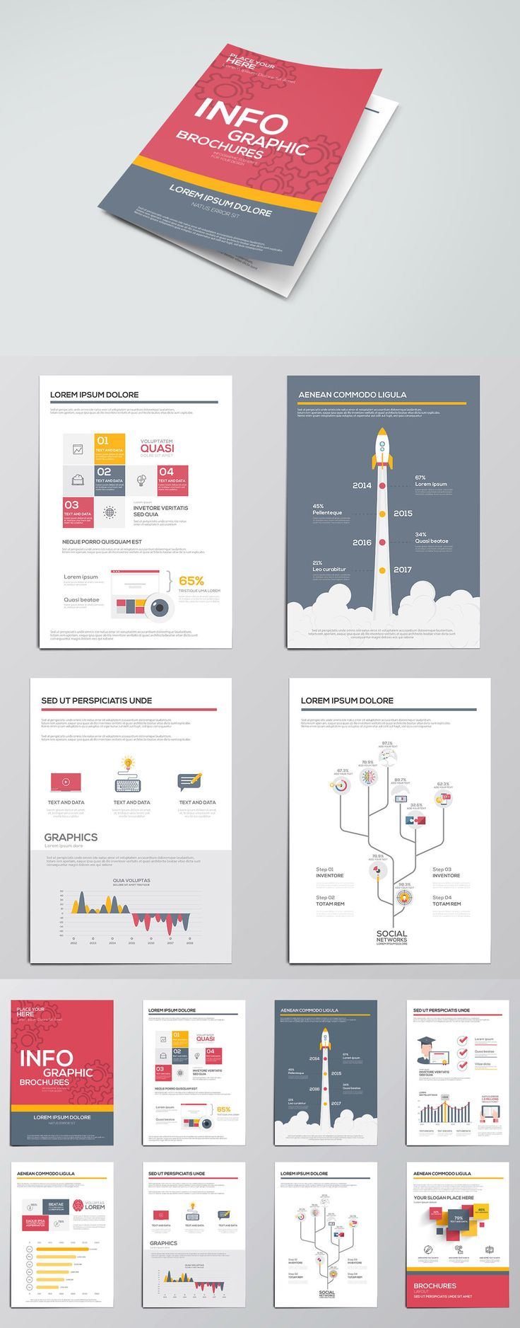Infographic design brochure
