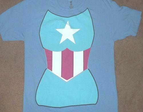 Marvel Comics~CAPTAIN AMERICA~Woman s Bodice (L) T Shirt