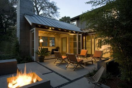 Pin by monica brent on off the grid pinterest for Fire pit on concrete slab