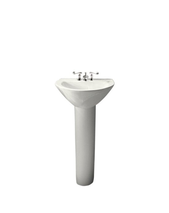 Small Basin And Pedestal : bathroom with pedestal sink small pedestal sink bath pinterest ...