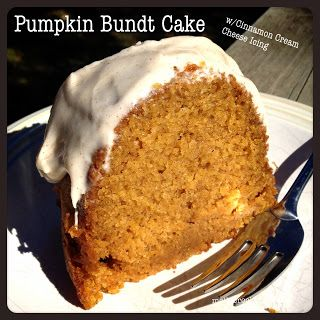 Molly Crocker Cooking: Pumpkin Bundt Cake with Cinnamon Cream Cheese ...