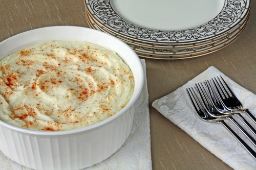 Cream Cheese Mashed Potatoes. So good that gravy is totally ...