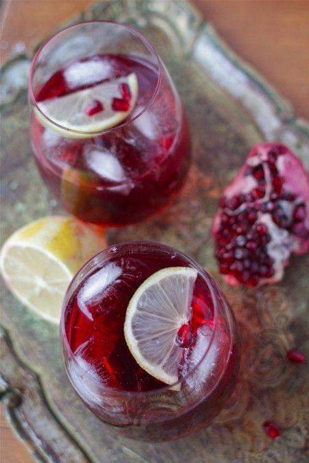 Pomegranate sparkler   -= Drinks =-   Pinterest