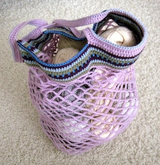 Free Crochet Pattern For Mesh Bag : how to make a mesh bag Crochet Pattern Design Pinterest