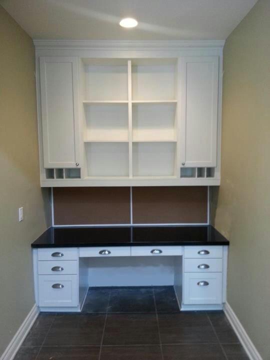 built in computer desk built in desks pinterest. Black Bedroom Furniture Sets. Home Design Ideas