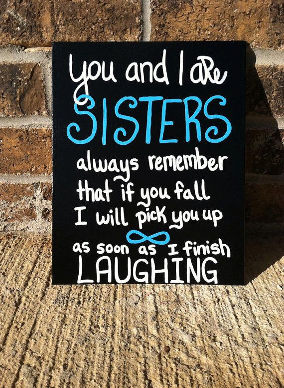 Quotes About Sisters Cousins : Black canvas with funny sisters quote customizable cousins pink