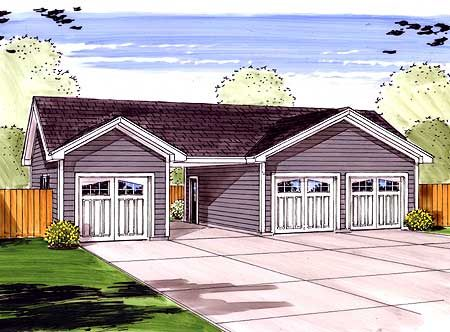 3 Car Garage Plus Carport