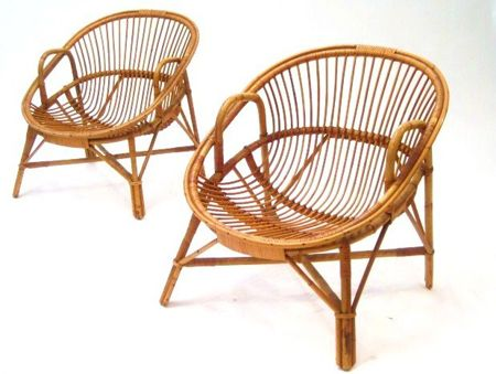 Pair of cane chairs PRODUCT