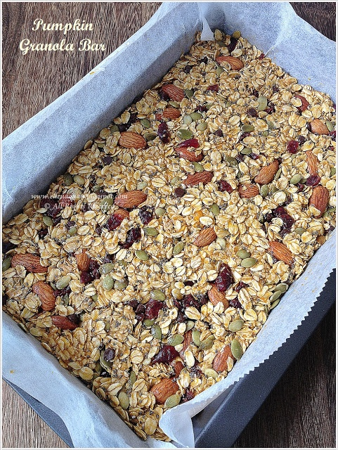 ... like for a snack, but seems very worth while. Pumpkin Granola Bar