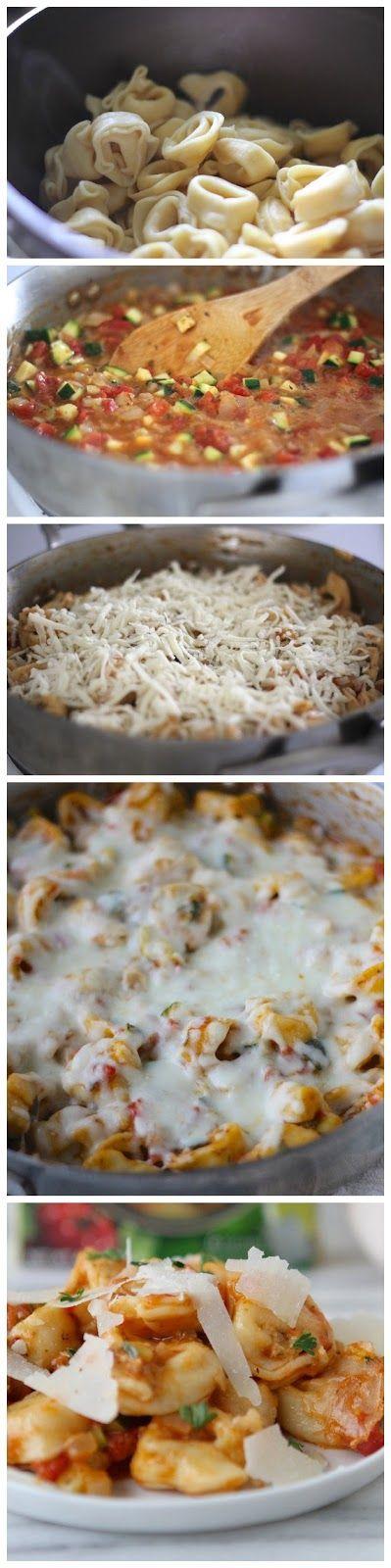 Italian Herb Baked Cheesy Tortellini | Good Eats | Pinterest