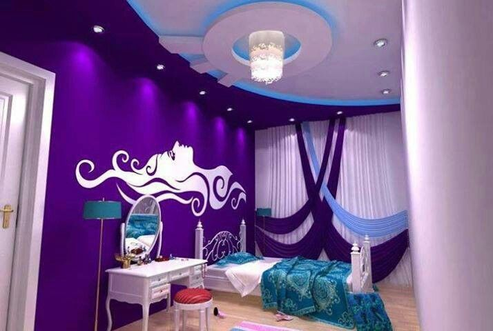 Purple blue and turquoise decor pinterest - Turquoise and purple bedroom ...
