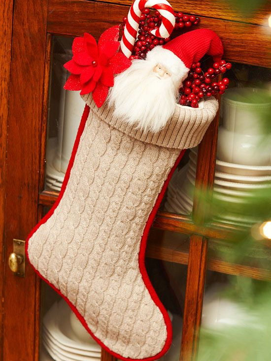 Cable Knit Christmas Stocking Pattern : Cable-Knit Christmas Stocking
