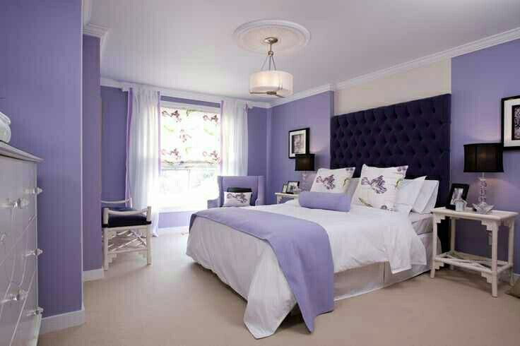 Purple black and white bedroom for the home pinterest Purple and black bedroom