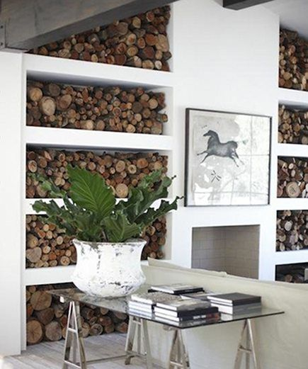 Indoor Firewood Storage Diy Pinterest
