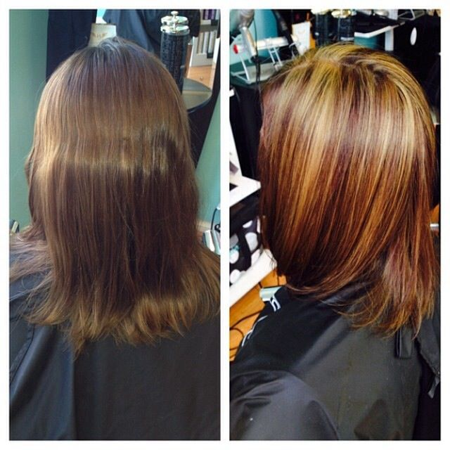 Redhead With Lowlights | Dark Brown Hairs