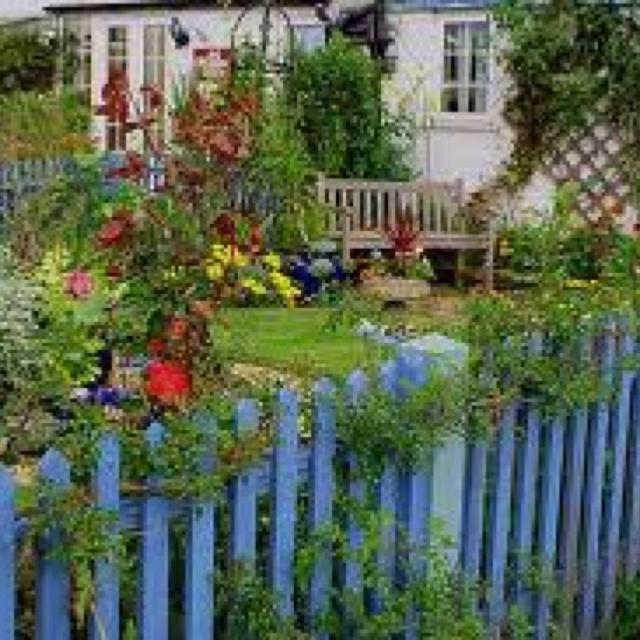 colorful fence garden outdoor ideas pinterest