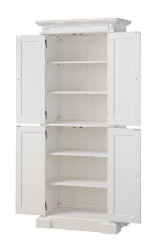 692 Americana Pantry Storage Cabinet White Finish Amazon Home Kitchen