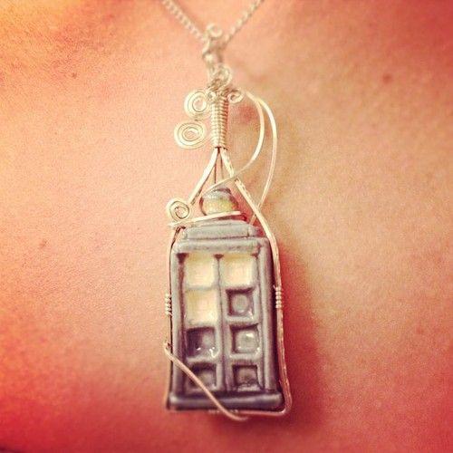 TARDIS necklace