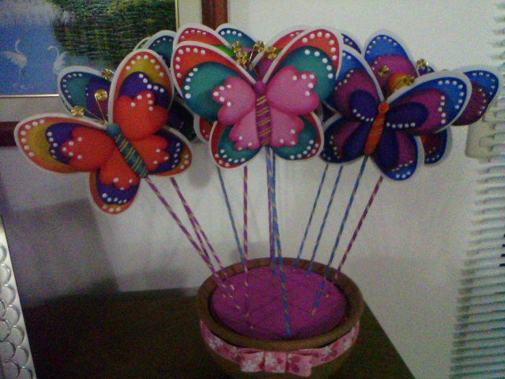 Manualidades en foami de mariposas - Imagui