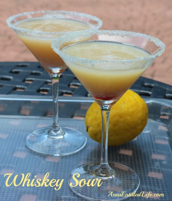 Whiskey Sour Recipe; The Whiskey Sour, a classic cocktail of Bourbon ...