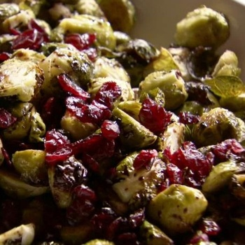 Brussels Sprouts with Balsamic and Cranberries - looks sooo good!