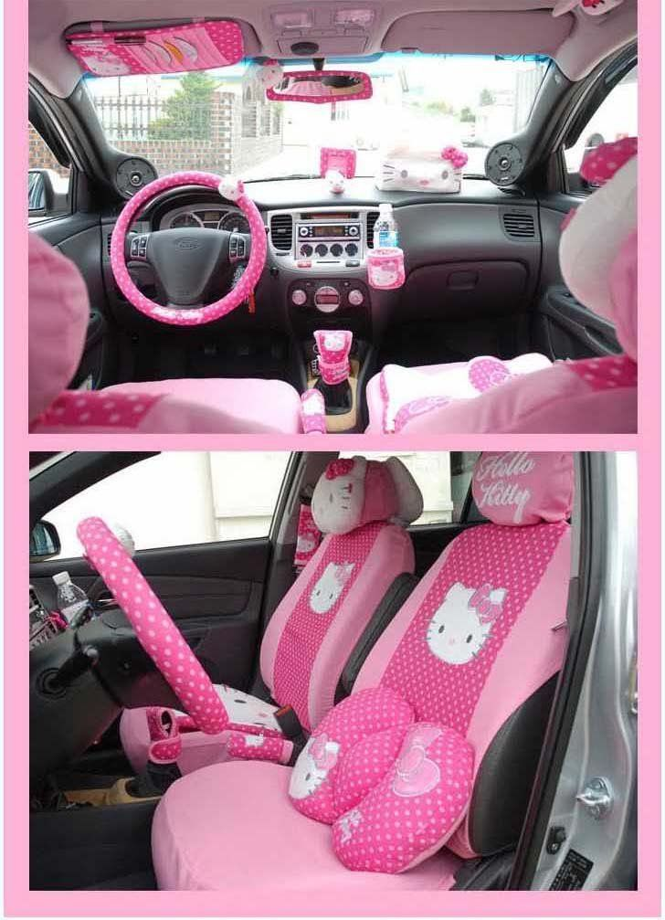 hello kitty pink car accessories pictures. Black Bedroom Furniture Sets. Home Design Ideas