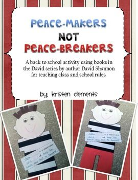 This is a back to school activity using books in the David series by author David Shannon for teaching class and school rules. Students will create...
