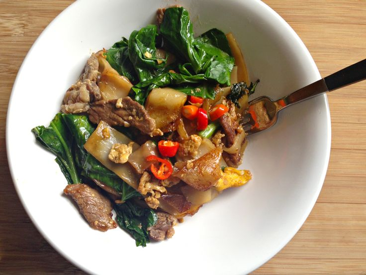 Pad see-ew with pickled chilies | What's cookin' good lookin'? | ...