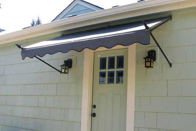 Spearhead awning over the front door for the home for Exterior door awnings