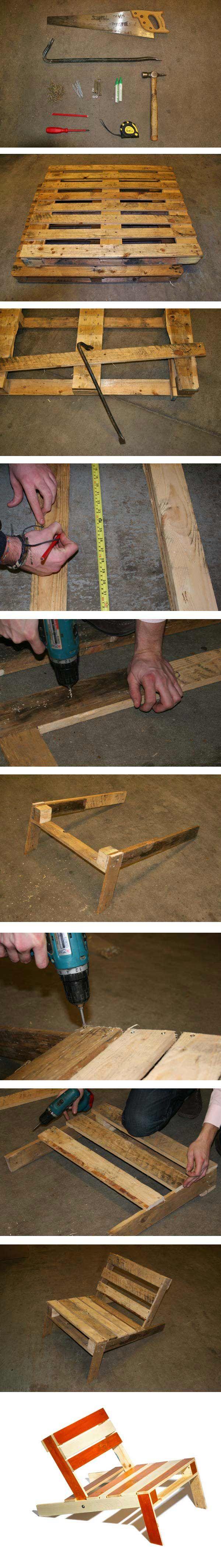 DIY pour chaise longue de jarin en palette
