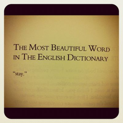 The most beautiful word in the English dictionary