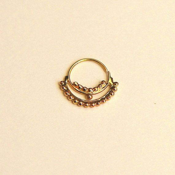 indian style gold septum jewelry 14k yellow gold septum