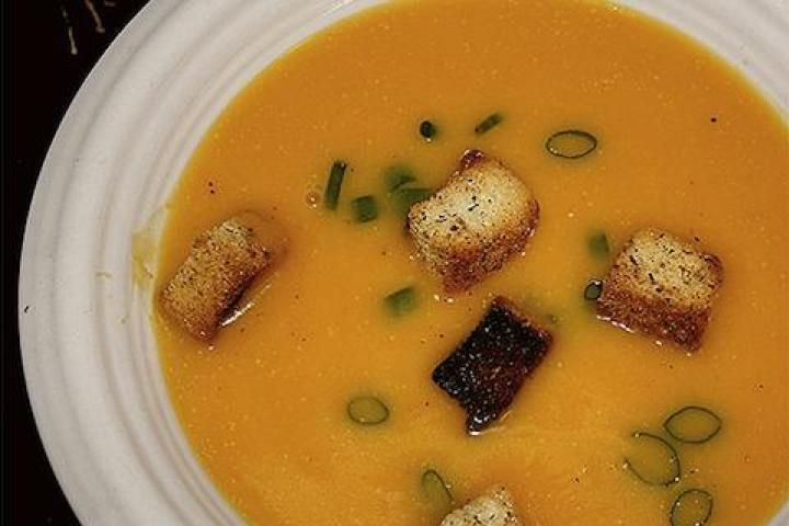 Winter Squash Soup with Gruyère Croutons Recipe