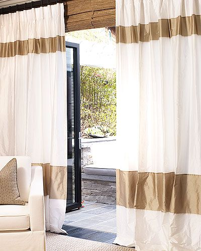 Silk bordered curtains from DrapeStyle.com