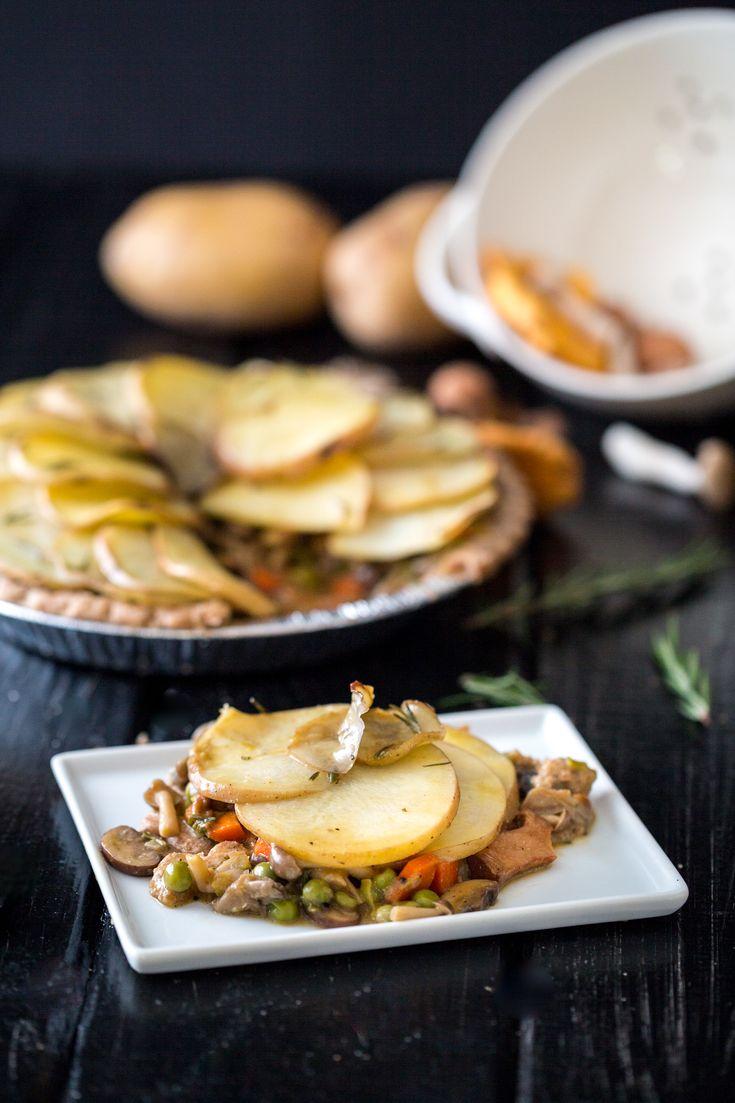 Wild Mushroom Potato Pie | My Veggie Belly | Pinterest