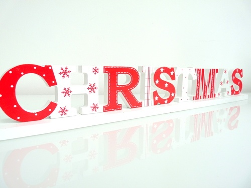 Wooden 'Christmas' Word Block   Beautiful Christmas Decorations   Pin ...