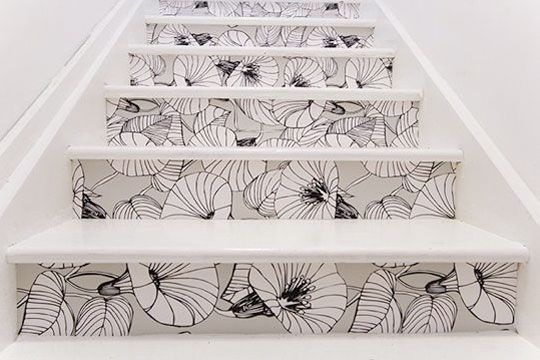 Painted staircase. I love it - what a fun idea!