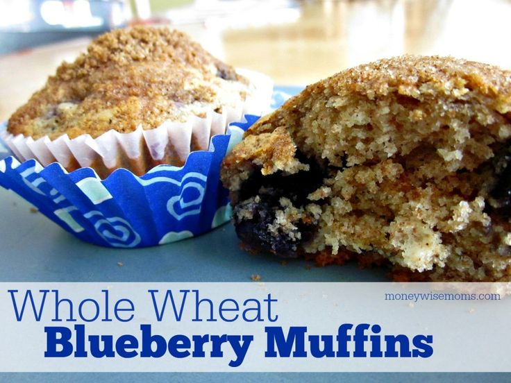 Whole Wheat Blueberry Muffins   Simple #recipe with honey, cinnamon ...