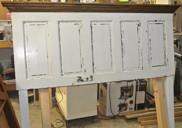 eclectic re-purpose upcycle chic 5 panel door old door antique door ...