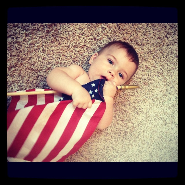 fourth of july baby bathing suit