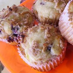 Mango Blueberry Muffins With Coconut Streusel Allrecipes.com
