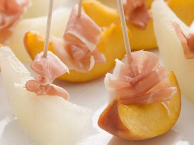 Melon and Nectarines with Parma Ham | Amazing Appetizers | Pinterest