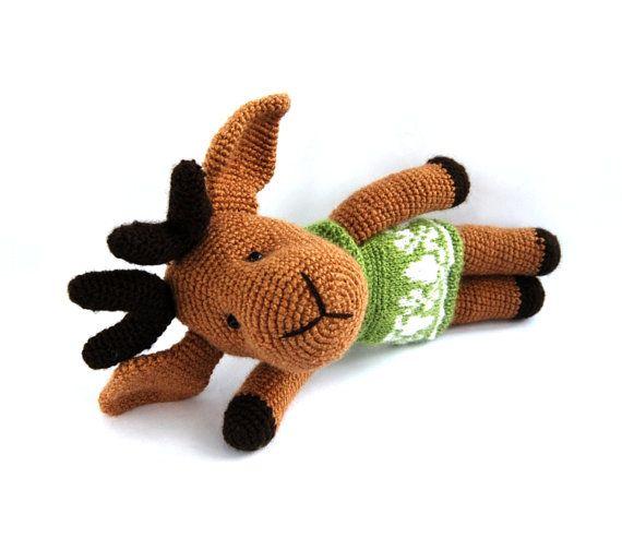 Christmas Reindeer Amigurumi : christmas reindeer amigurumi brown reindeer christmas gift ...