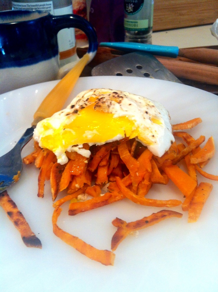 sweet potato hash pan fried in coconut oil w/ sea salt & black ...