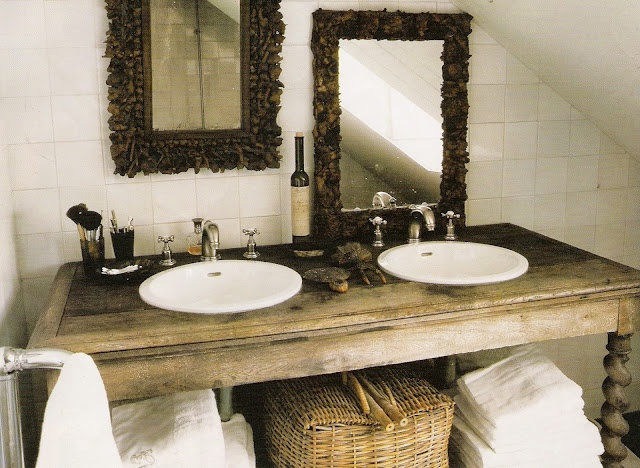 Bathroom. His and her sink. home stuff Pinterest